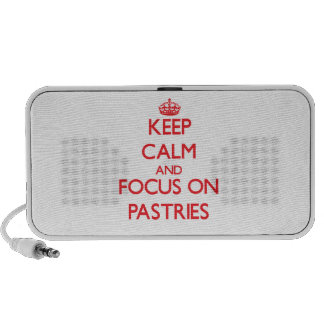 Keep Calm and focus on Pastries Notebook Speaker