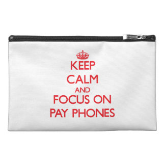 Keep Calm and focus on Pay Phones Travel Accessories Bags