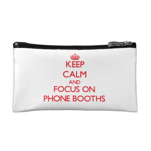 Keep Calm and focus on Phone Booths Makeup Bag