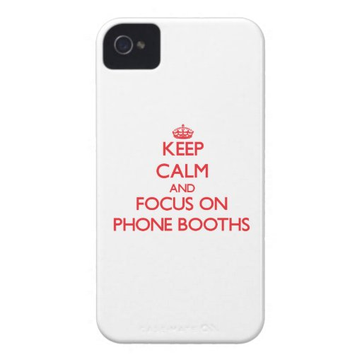 Keep Calm and focus on Phone Booths iPhone 4 Case-Mate Cases