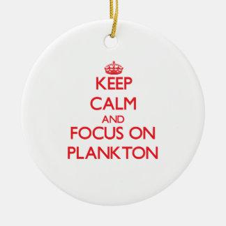 Keep Calm and focus on Plankton Christmas Tree Ornaments
