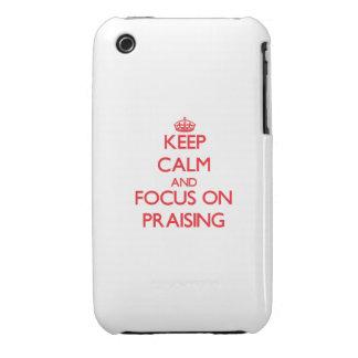 Keep Calm and focus on Praising iPhone 3 Case