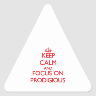 Keep Calm and focus on Prodigious Triangle Sticker