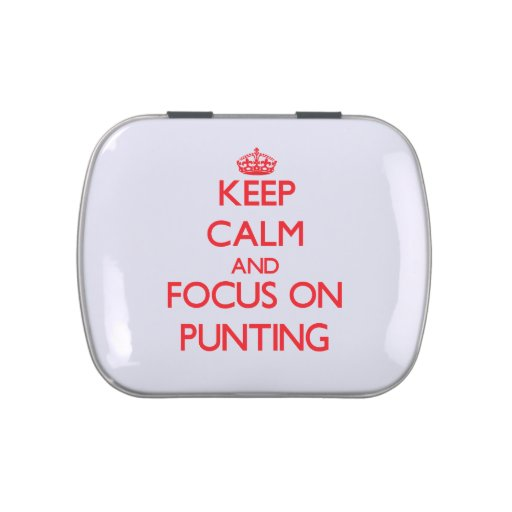 Keep Calm and focus on Punting Jelly Belly Tins