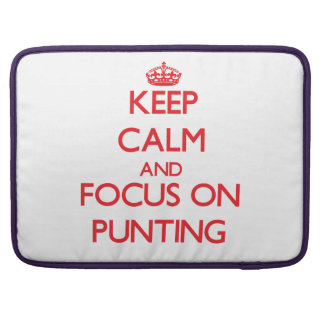 Keep Calm and focus on Punting Sleeve For MacBooks