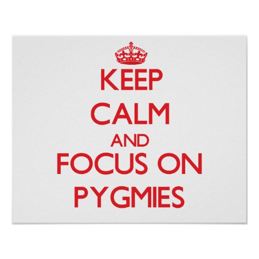 Keep Calm and focus on Pygmies Posters