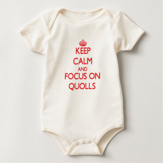 Keep calm and focus on Quolls Baby Bodysuit