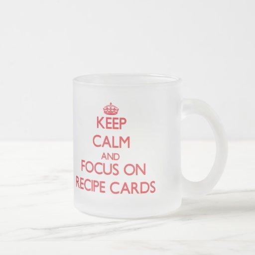 Keep Calm and focus on Recipe Cards Mug