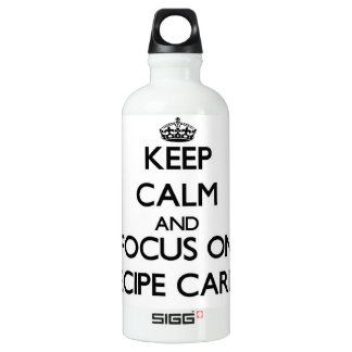 Keep Calm and focus on Recipe Cards SIGG Traveler 0.6L Water Bottle