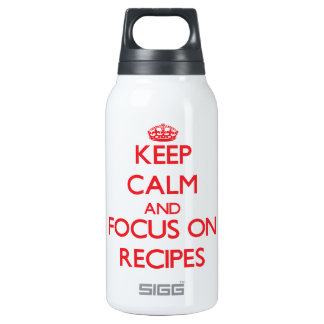 Keep Calm and focus on Recipes SIGG Thermo 0.3L Insulated Bottle