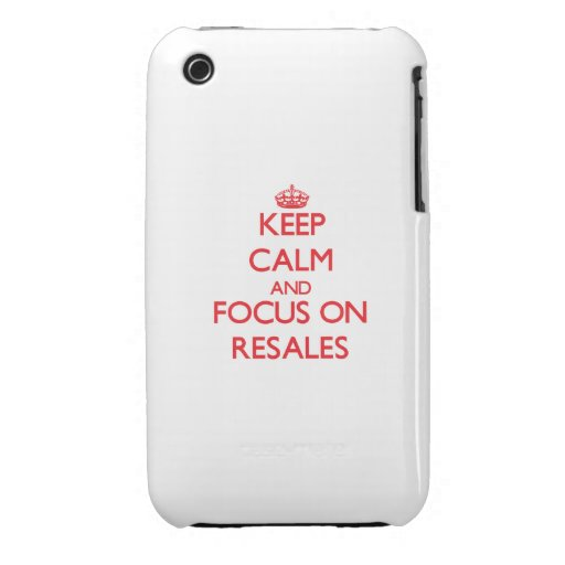 Keep Calm and focus on Resales iPhone 3 Case-Mate Cases