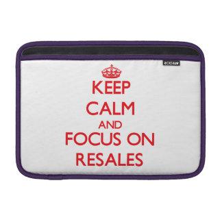 Keep Calm and focus on Resales MacBook Sleeves