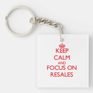 Keep Calm and focus on Resales Square Acrylic Key Chain