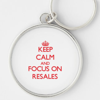 Keep Calm and focus on Resales Keychain
