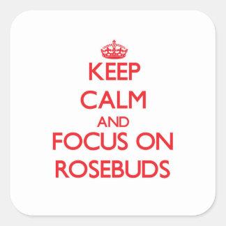 Keep Calm and focus on Rosebuds Sticker