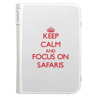 Keep Calm and focus on Safaris Kindle 3G Covers