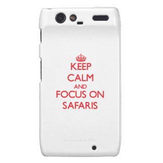 Keep Calm and focus on Safaris Motorola Droid RAZR Cases