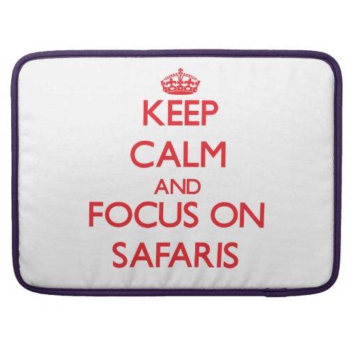 Keep Calm and focus on Safaris Sleeve For MacBooks