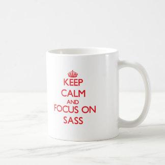Keep Calm and focus on Sass Coffee Mug