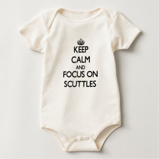 Keep Calm and focus on Scuttles Baby Bodysuit