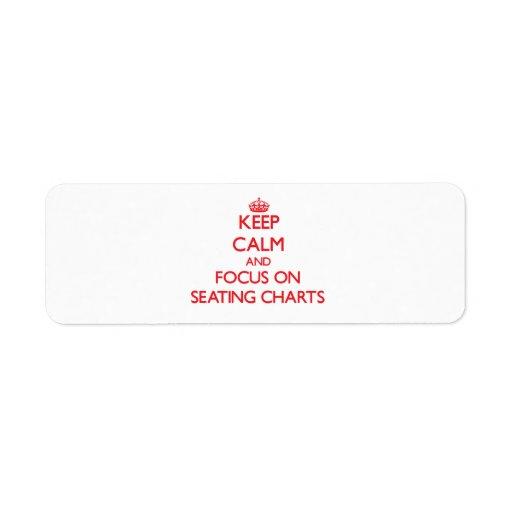 Keep Calm and focus on Seating Charts Custom Return Address Label