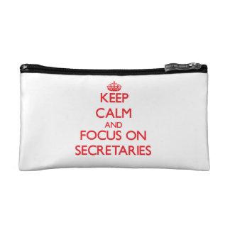 Keep Calm and focus on Secretaries Makeup Bag