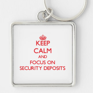 Keep Calm and focus on Security Deposits Key Chains
