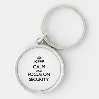 Keep Calm and focus on Security Key Chains