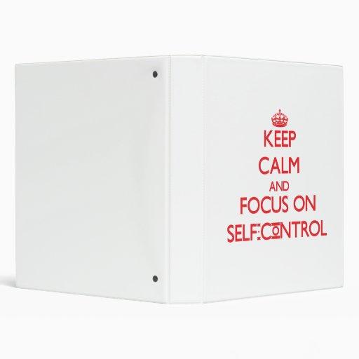 Keep Calm and focus on Self-Control Vinyl Binders