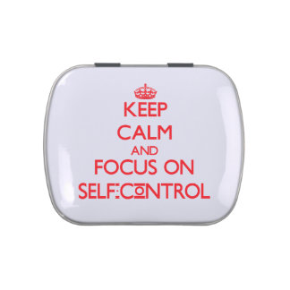 Keep Calm and focus on Self-Control Jelly Belly Tins