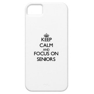 Keep Calm and focus on Seniors iPhone 5 Covers