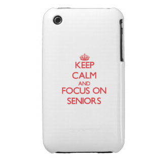 Keep Calm and focus on Seniors iPhone 3 Case
