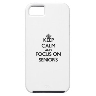 Keep Calm and focus on Seniors iPhone 5 Case