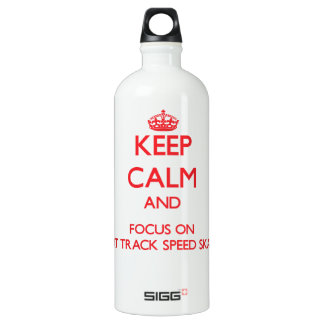 Keep calm and focus on Short Track Speed Skating