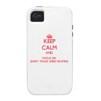 Keep calm and focus on Short Track Speed Skating Case-Mate iPhone 4 Case
