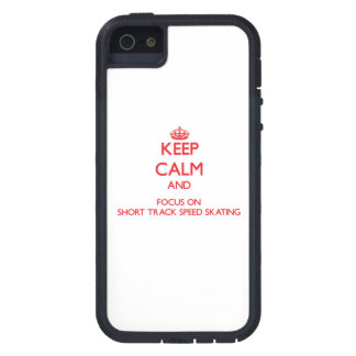 Keep calm and focus on Short Track Speed Skating iPhone 5 Case