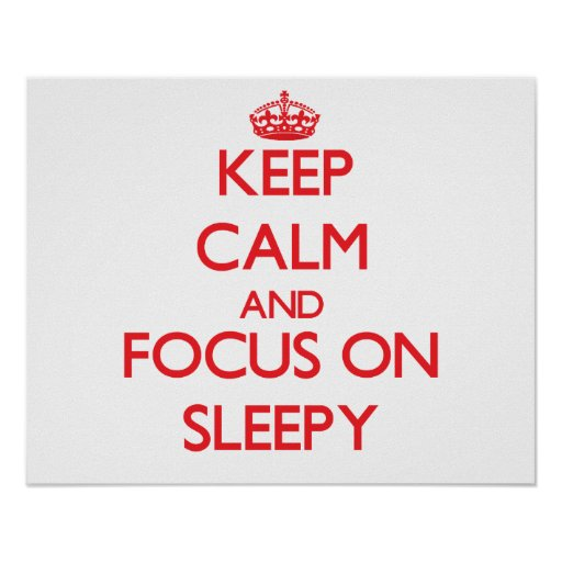 Keep Calm and focus on Sleepy Posters