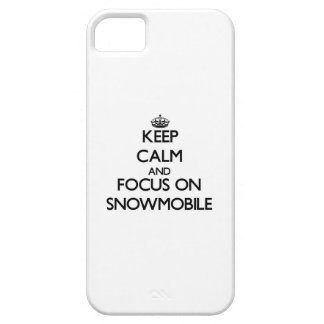 Keep Calm and focus on Snowmobile iPhone 5 Case
