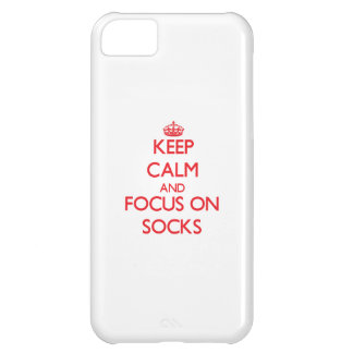 Keep Calm and focus on Socks Case For iPhone 5C