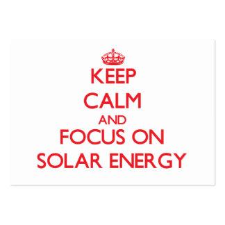 Keep Calm and focus on Solar Energy Business Card Templates
