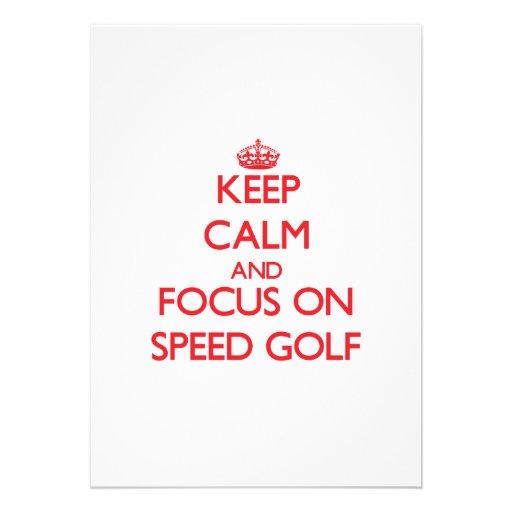 Keep calm and focus on Speed Golf Custom Announcements