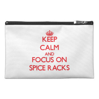 Keep Calm and focus on Spice Racks Travel Accessories Bag