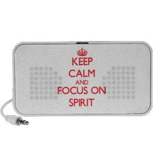Keep Calm and focus on Spirit Portable Speaker