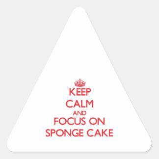 Keep Calm and focus on Sponge Cake Triangle Sticker