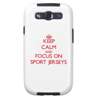 Keep Calm and focus on Sport Jerseys Samsung Galaxy S3 Case