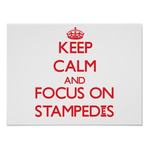 Keep Calm and focus on Stampedes Poster