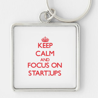 Keep Calm and focus on Start-Ups Keychain