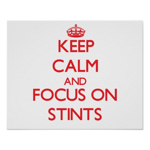 Keep Calm and focus on Stints Posters