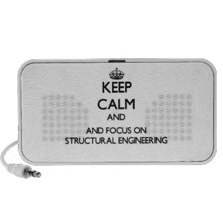 Keep calm and focus on Structural Engineering iPod Speaker