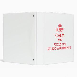 Keep Calm and focus on Studio Apartments Binder